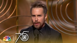 Download Sam Rockwell Wins Best Supporting Actor at the 2018 Golden Globes Video
