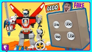 Download VOLTRON vs LIE-GO Battle Adventure! LEGO Toy Review and Play by HobbyKidsTV Video