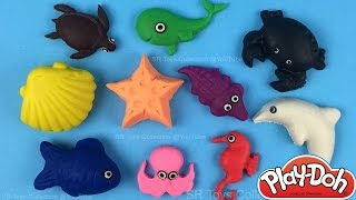 Download Learn Names of Sea Animals with Play-Doh, Children Educational Video by SR Toys Collection Video