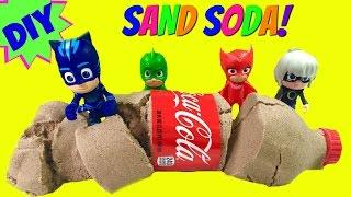 Download DIY How To Make Kinetic Sand Coca Cola - PJ Masks Turn Luna Girl's Soda into Sand! Video