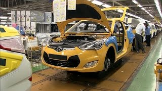 Download Hyundai Veloster Production at the Ulsan plant, South Korea Video