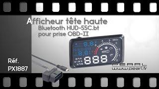 Download AFFICHEUR TETE HAUTE à brancher sur prise OBD-II + fonction bluetooth - [PEARLTV.FR] Video
