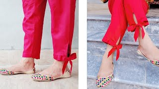 Download Tie knot Capri bottom design 2018 Cutting and Stitching Video