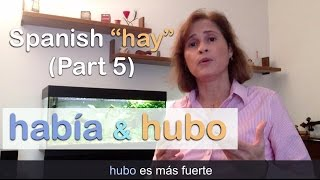 Download Spanish ″HABER″ ➤ hay/había/hubo - Parte 5 Video