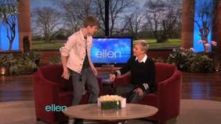 Download Justin Bieber's Belated Birthday Gift for Ellen! Video