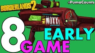 Download Top 8 Best Early and Low Level Guns and Weapons in Borderlands 2 #PumaCounts Video