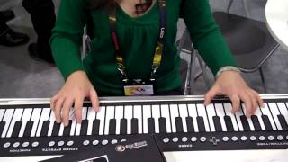 Download Consumer Electronics Show 2010: Flat Keyboard and piano Video