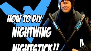 Download NightWing How to DiY Escrima Sticks Weapons Batman Arkham Knight Costume Cosplay Pt 2 Video