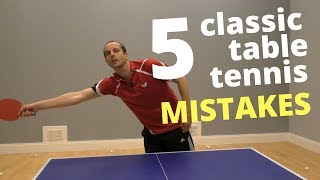 Download 5 classic table tennis MISTAKES (and how to fix them) Video
