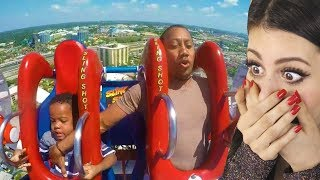 Download Dad tries to save son on roller coaster then this happens... Video