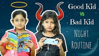 Download Good Kid vs Bad Kid - Night Routine | #Sketch #Fun #MyMissAnand Video