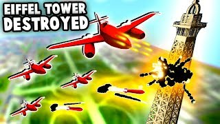 Download TOTAL Destruction UFO Jets Destroy EIFFEL TOWER (Total Tank Simulator) Video