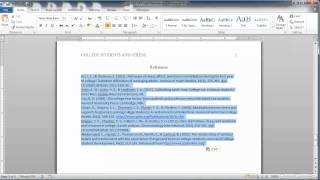 Download APA Style Reference Page Video