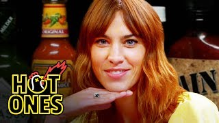 Download Alexa Chung Fears for Her Life While Eating Spicy Wings | Hot Ones Video