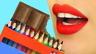 Download 11 Weird Ways To Sneak Food Into Class - Back To School Pranks Video