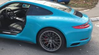 Download 2017 Porsche 911 Carrera S Miami Blue 991.2 TEST DRIVE Video