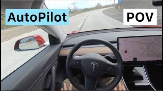 Download Tesla Model 3 POV Drive with AUTOPILOT Video