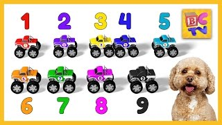 Download Learn to Count to 10 with Monster Trucks   Educational Cartoon for Kids by Brain Candy TV Video