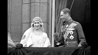 Download The Queen Mother marries the future King George VI at Westminster Abbey Video
