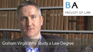 Download Graham Virgo: Why Study a Law Degree Video