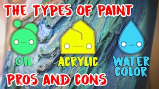 Download The Types of Paint Oil Acrylic Watercolor the Pros and Cons Video