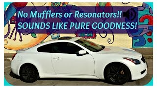 Download MUFFLER delete vs STRAIGHT PIPE G37 - HOW TO - Video