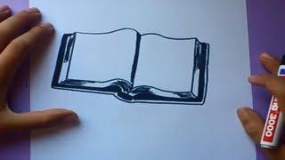 Download Como dibujar un libro paso a paso | How to draw a book Video