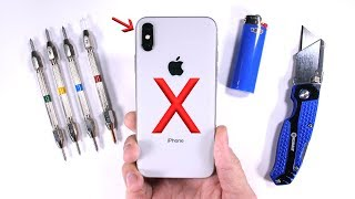Download iPhone X Durability Test - Scratch BURN and Bend TESTED! Video