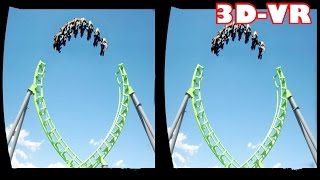 Download 3D Roller Coasters VR Videos 3D SBS [Google Cardboard VR Experience] VR Box Virtual Reality Video Video