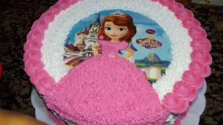 Download Bolo redondo decorado com tema da princesa Sofia Video