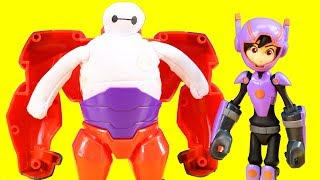 Download Disney Big Hero 6 Mini-Max & Squish To Fit Baymax Toy Unboxing With Just4fun290 Video