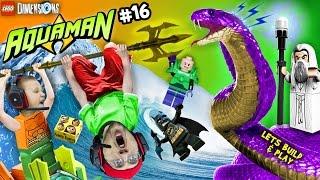 Download AQUAMAN TAKES A BATH! Lets Build & Play LEGO Dimensions #16: Saruman Snake Boss Battle (FGTEEV) Video