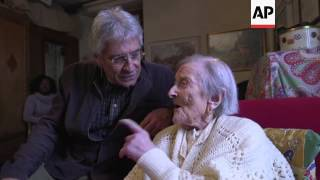 Download World's oldest person turns 117 in Italy Video