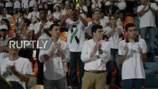 Download Colombia: Thousands honour plane crash victims in Atanasio Girardot Stadium Video