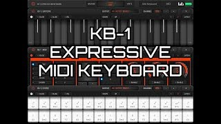 Download KB-1 Expressive MIDI Keyboard by Kai Aras - Demo & Tutorial for the iPad Video