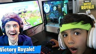 Download My 10 Year Old Little Brother Plays Like Ninja On Fortnite! Video