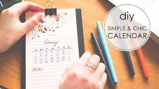 Download DIY | Simple & Chic Desktop Calendar Video