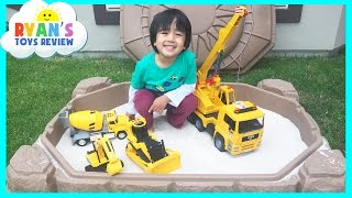 Download Step2 Sandbox Construction Vehicles Dump Truck with Toy Cars and Trains Video