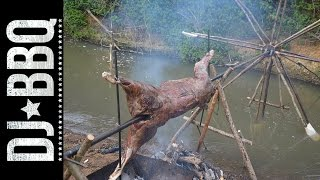 Download Water Wheel Spit Roast | DJ BBQ / Hunter Gather Cook Video