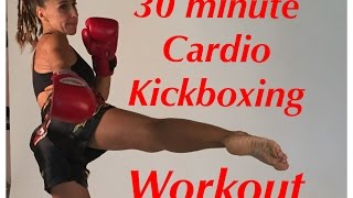 Download 30 minute Cardio Kickboxing total body workout Video
