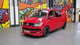 Download Genuine ABT Splitter On Cherry Red Bomb!! T6 Transporter With Leighton Vans Sportline Pack Video