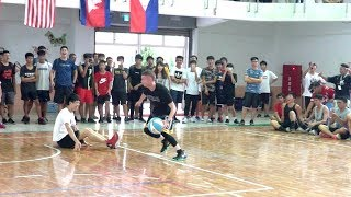 Download The Professor vs Coach in Yunlin, Taiwan. ANKLE BREAKER to end game. Video