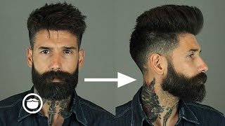 Download How to Style a Natural Pompadour with Skin Fade | Carlos Costa Video