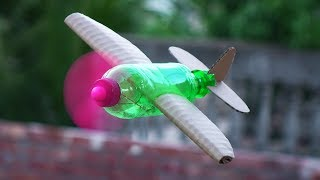 Download How to Make a Flying Airplane using Plastic Bottle and Cardboard Video
