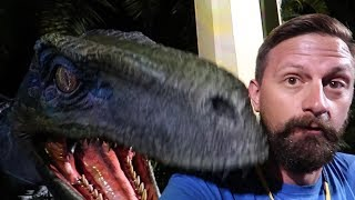 Download At Universal Orlando For The Jurassic Park Meet Up!   We Met Blue The Raptor & Jurassic World Alive! Video