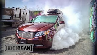 Download [HOONIGAN] DT 052: 1000HP Minivan Burnout (Bisimoto) Video