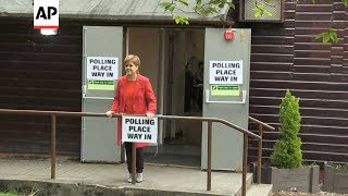 Download Scotland's First Minister votes in European poll Video