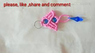 Download Beautiful Macrame key chain (design no. 4) Video
