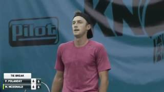 Download Tennis fail - Polansky loses the first set to an UNDERHAND server McDonald Video