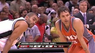 Download Steve Nash vs Tony Parker LEGENDARY PG Duel 2008 Playoffs R1G1 - 51 Pts, 18 Assists Combined! Video